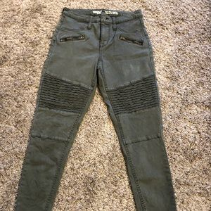 Mossimo High Rise Jegging Olive Moto Denim